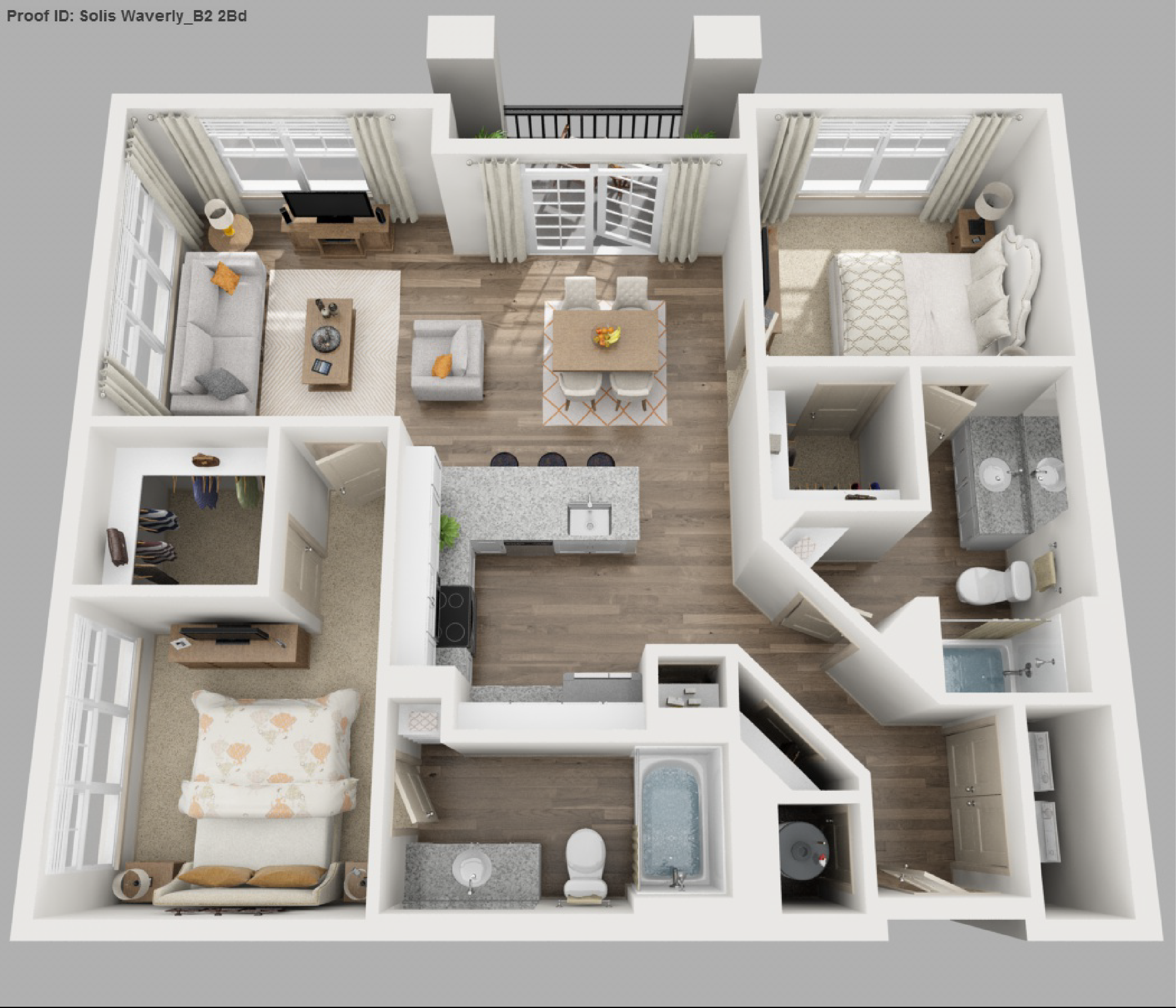 B2 2 Bedroom View Floor Plan