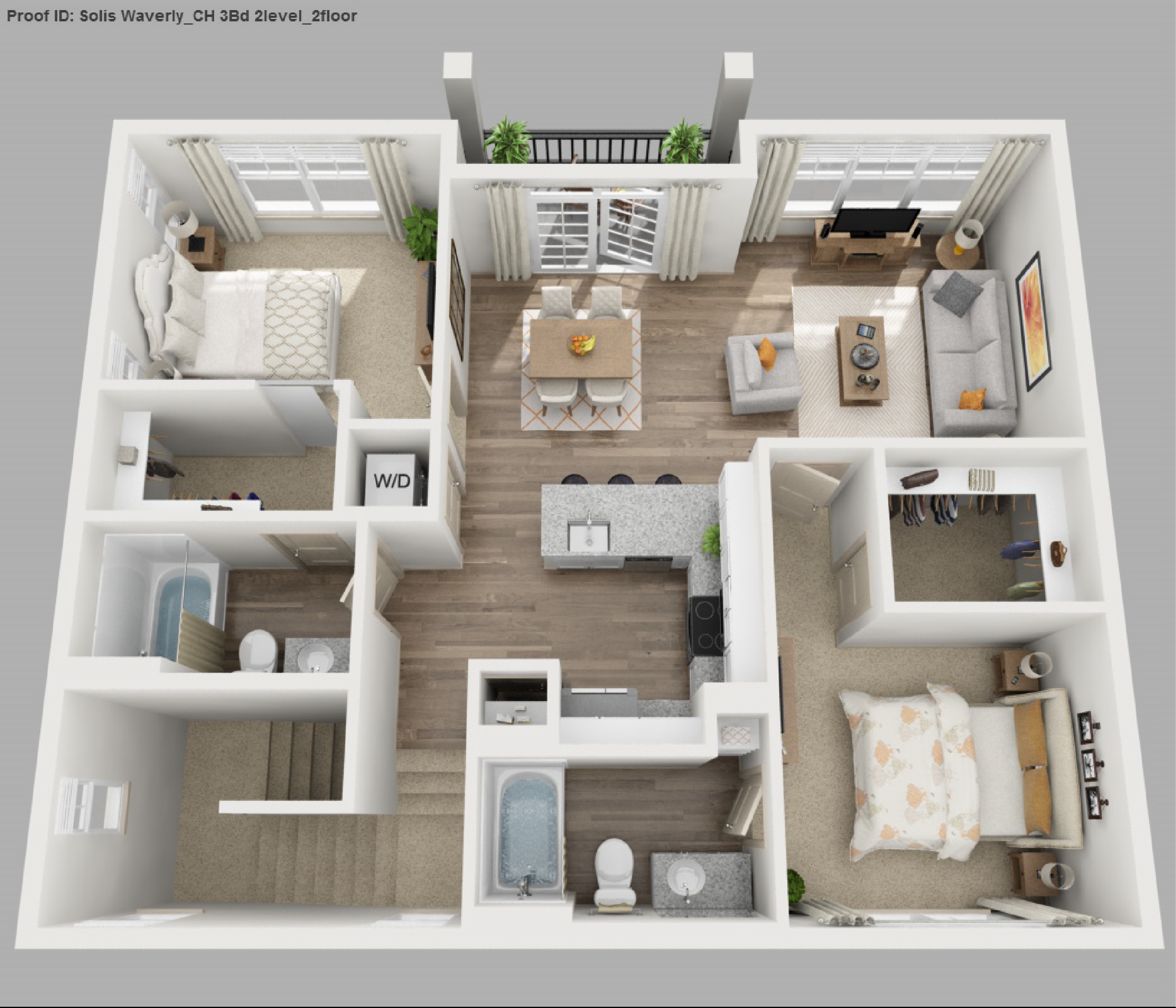 Solis apartments floorplans waverly for 3 bedroom