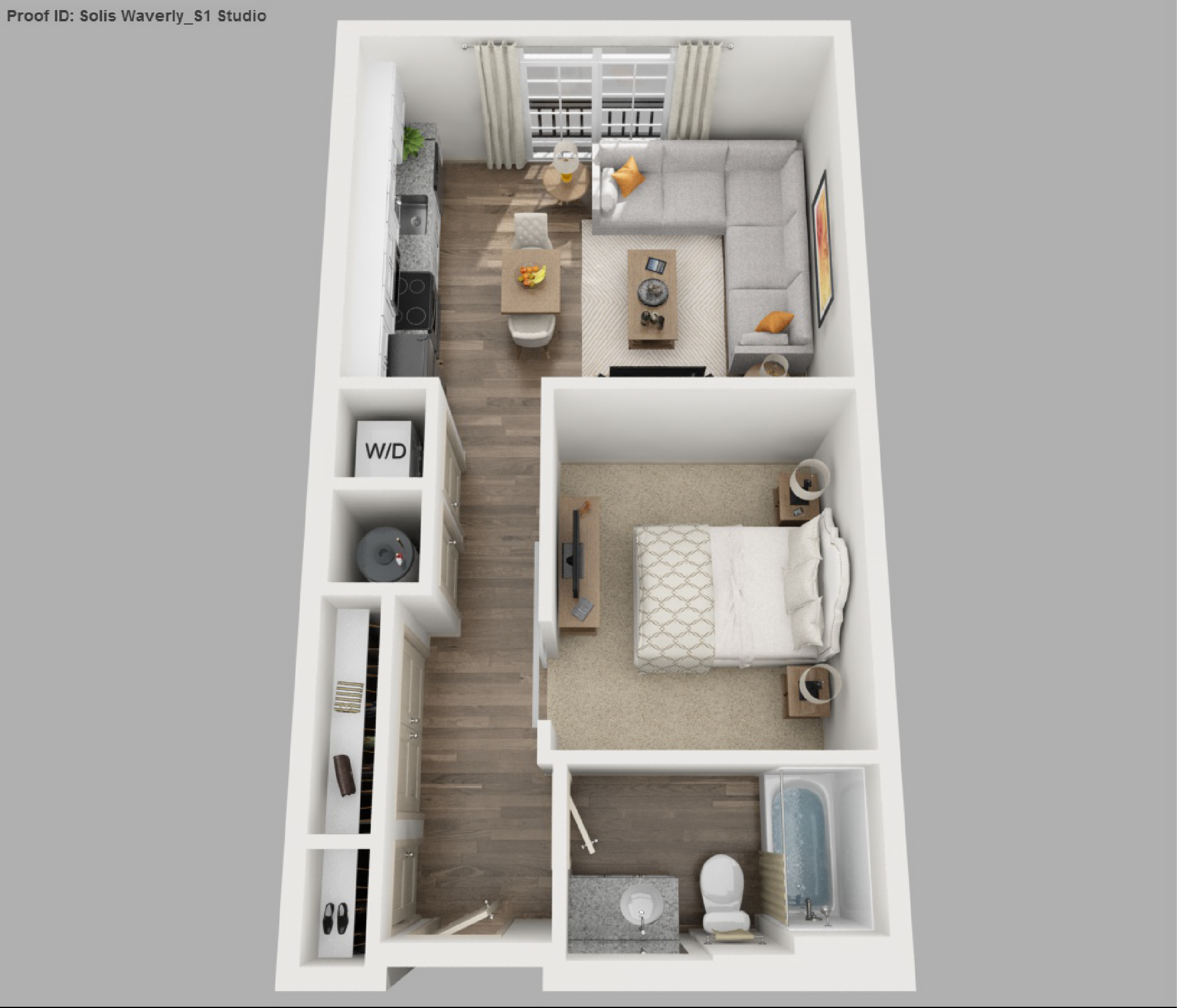Solis apartments floorplans waverly for Studio layout plan